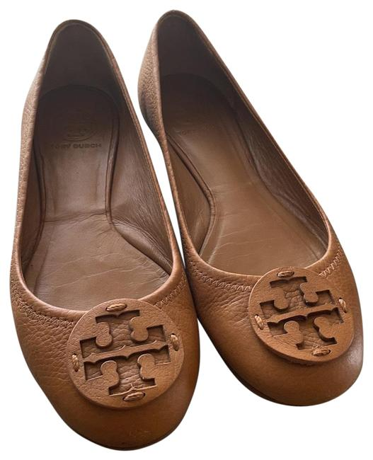 Item - Tan Camel Leather Flats Size US 7.5 Regular (M, B)