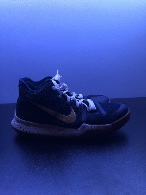 Item - Blue Gold and White Kyrie 3 Obsidian Sneakers Size US 6 Regular (M, B)