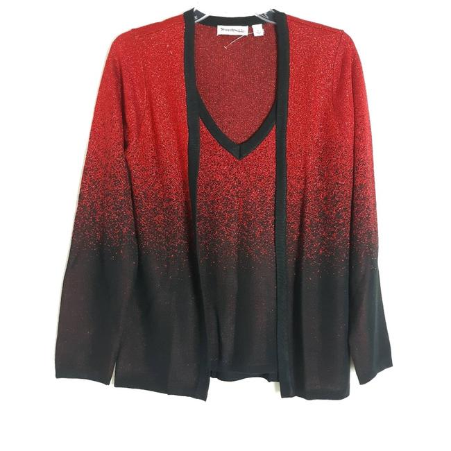 Item - Size Small Red/Black Long Sleeve Tank Set Red Sweater