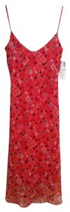 JEQUAH Tea Length Red Size 4 Dress