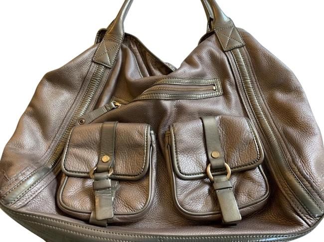 Item - Bucket Pebbled Champagne Silver Leather Hobo Bag