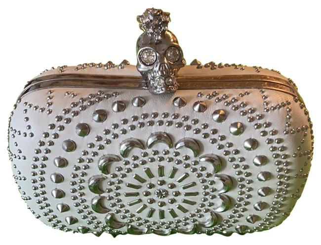 Item - Brittania Studded Purse White Leather Clutch