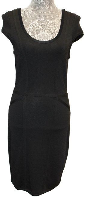 Item - Black Body Con Sleeve Rayon M Short Night Out Dress Size 8 (M)