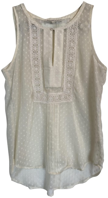 Item - Cream Sleeveless Blouse Size 4 (S)
