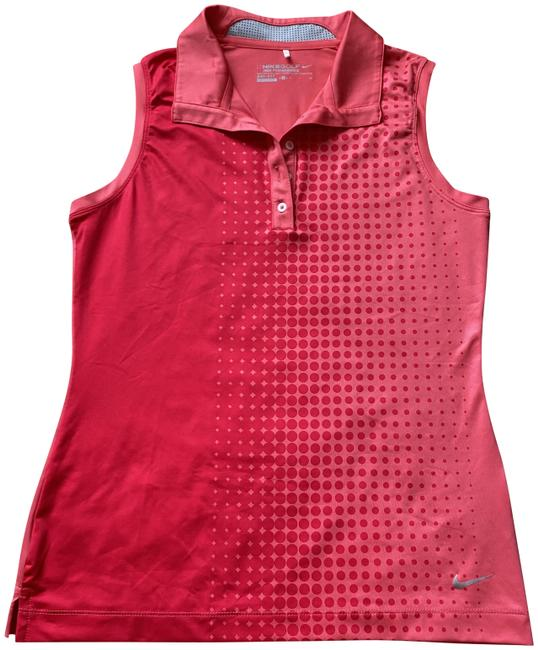 Item - Red Pink Sleeveless Golf Shirt Activewear Top Size 4 (S)