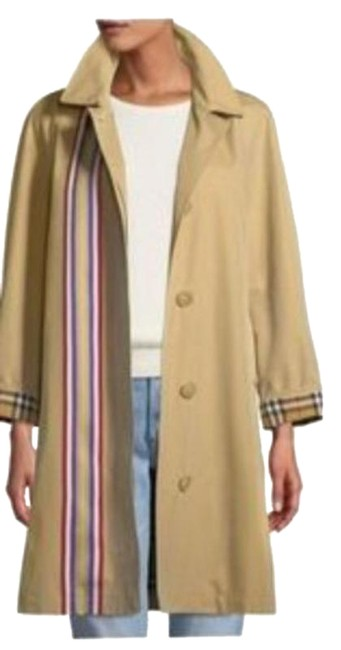 Item - Tan Striped with Nova Check Lining Coat Size 4 (S)