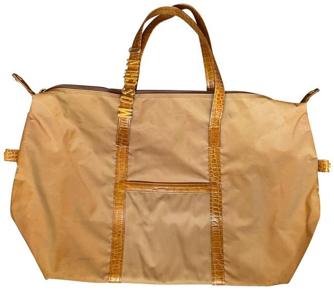 Item - Tote Vintage Tan Nylon Weekend/Travel Bag