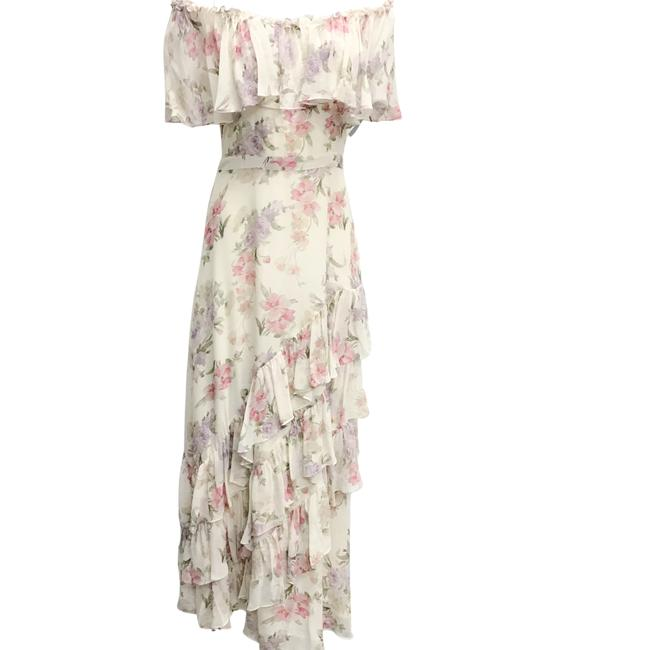 Item - Plum and Almond Popover Floral Casual Maxi Dress Size 6 (S)