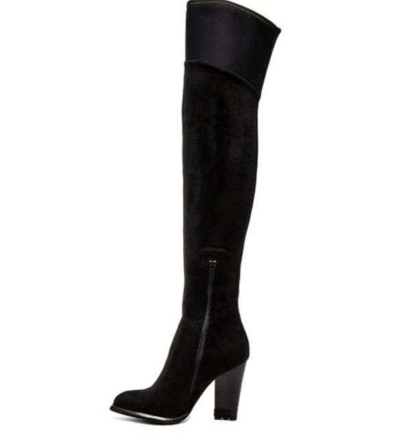 Item - Black Charli Suede Over The Knee Boots/Booties Size US 5.5 Regular (M, B)
