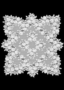 Heritage Tea Rose Lace Square Table Topper