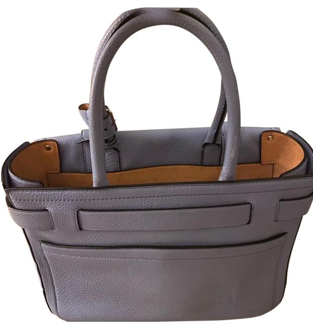 Item - Mcbox Baby Blue Leather Tote