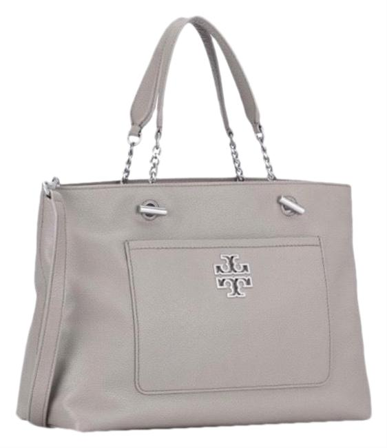 Item - Crossbody Britten Tote French Grey Leather Satchel