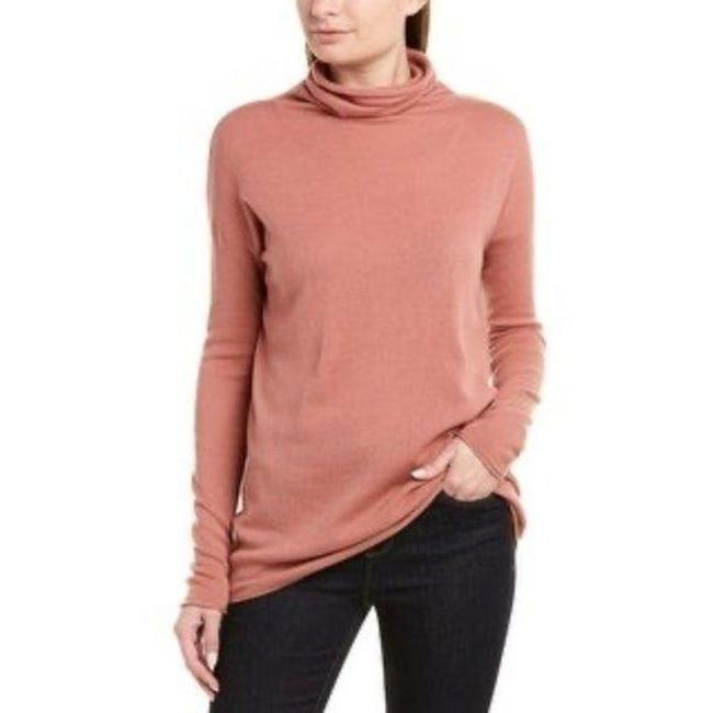 Item - Cashmere Wool Blend Cowl Neck Pink Sweater