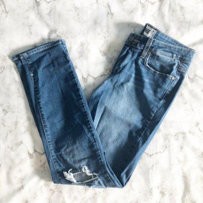 Paige Blue Distressed Kylie Crop Skinny Jeans Size 28 (4, S) Paige Blue Distressed Kylie Crop Skinny Jeans Size 28 (4, S) Image 2