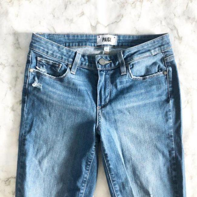 Paige Blue Distressed Kylie Crop Skinny Jeans Size 28 (4, S) Paige Blue Distressed Kylie Crop Skinny Jeans Size 28 (4, S) Image 3