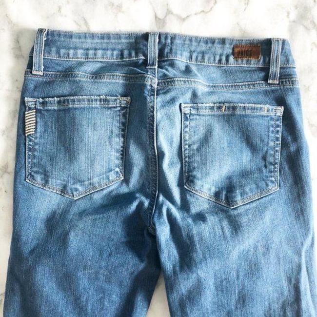 Paige Blue Distressed Kylie Crop Skinny Jeans Size 28 (4, S) Paige Blue Distressed Kylie Crop Skinny Jeans Size 28 (4, S) Image 4