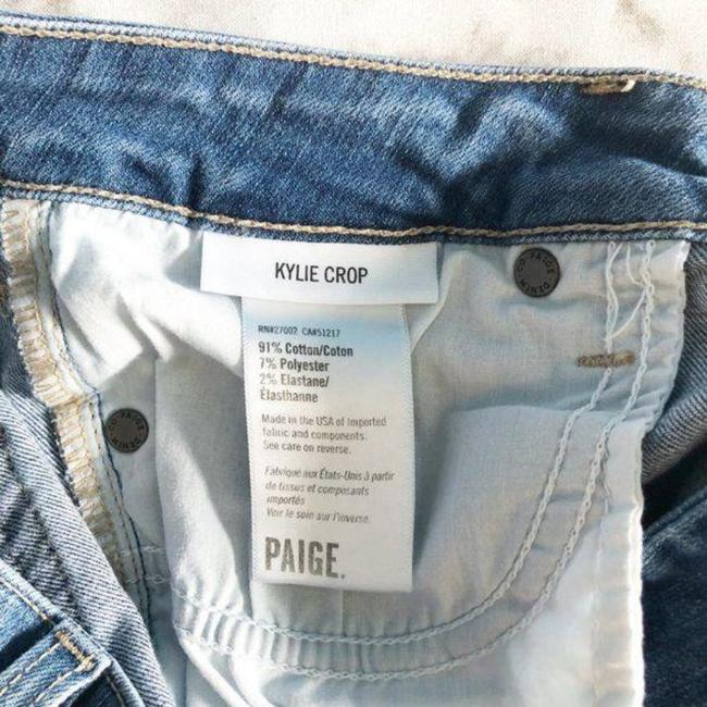 Paige Blue Distressed Kylie Crop Skinny Jeans Size 28 (4, S) Paige Blue Distressed Kylie Crop Skinny Jeans Size 28 (4, S) Image 7