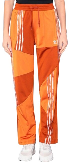 Item - Orange Danielle Cathari Track Pants Patchwork Activewear Size 4 (S)