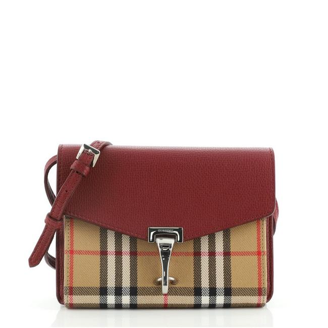 Item - Macken Vintage Check Small Multicolor Canvas and Leather Cross Body Bag