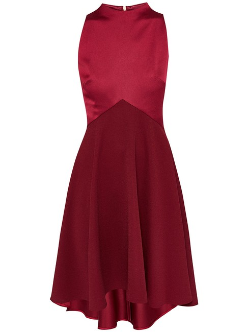Item - Red Kandal Dropped Mid-length Night Out Dress Size 6 (S)