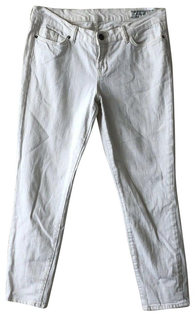 Item - White Light Wash Cirrus Womens Pants Ashby Cropped Pipe Fit Skinny Jeans Size 29 (6, M)
