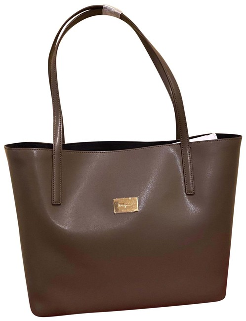 Item - Gianci City Grey Leather Tote