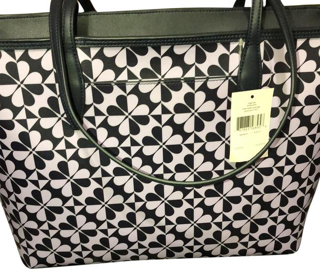 Item - Purple and Black Leather Tote