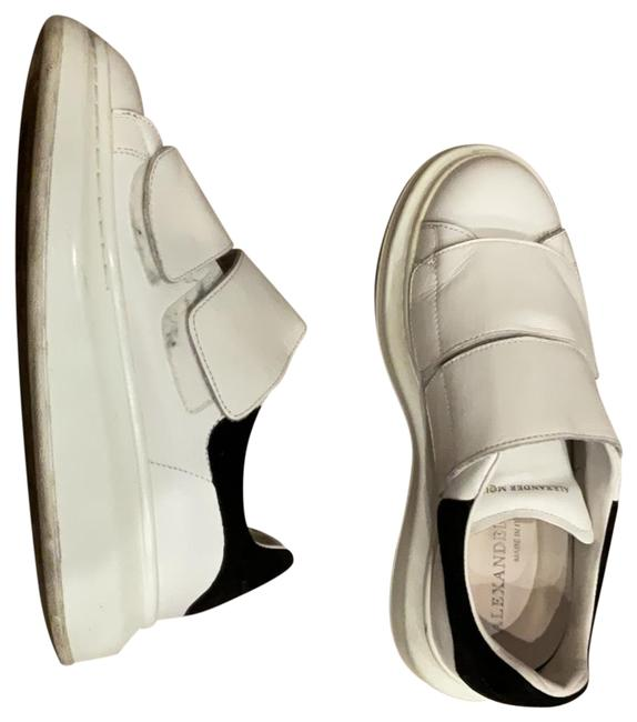 Item - White Leather and Black Suede Sneakers Size US 5 Regular (M, B)