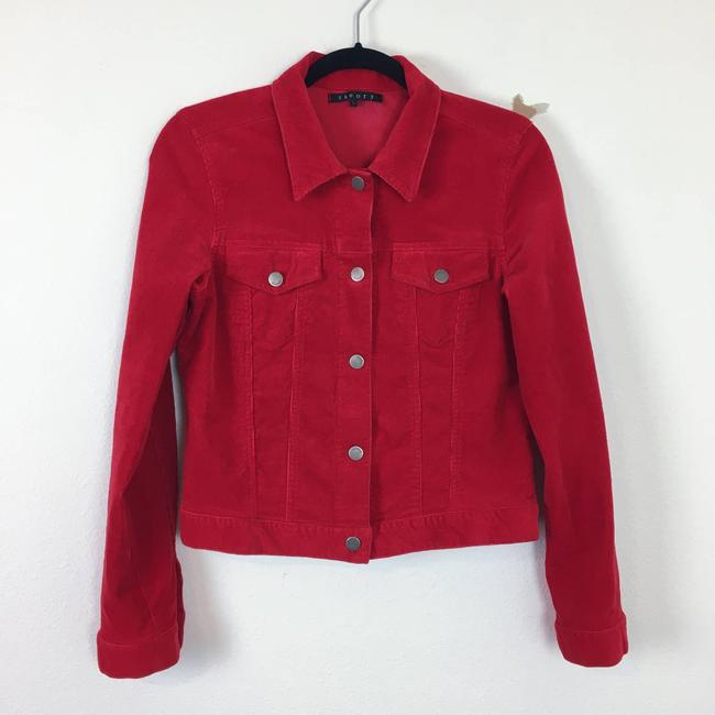 Item - Red Corduroy Trucker Short Boxy Jacket Size 10 (M)