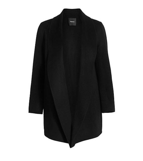Item - Black Clariene Clairene Cashmere Wool Open Front Coat Jacket Size 0 (XS)
