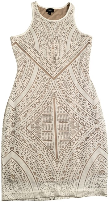 Item - White Nude Sheer Design Short Night Out Dress Size 2 (XS)