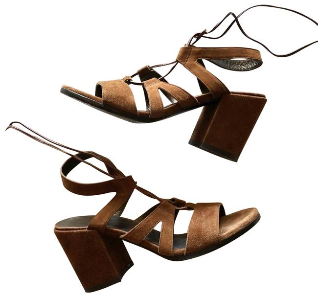 Item - Brown Suede Lace Up Heeled Sandals Size US 7.5 Regular (M, B)
