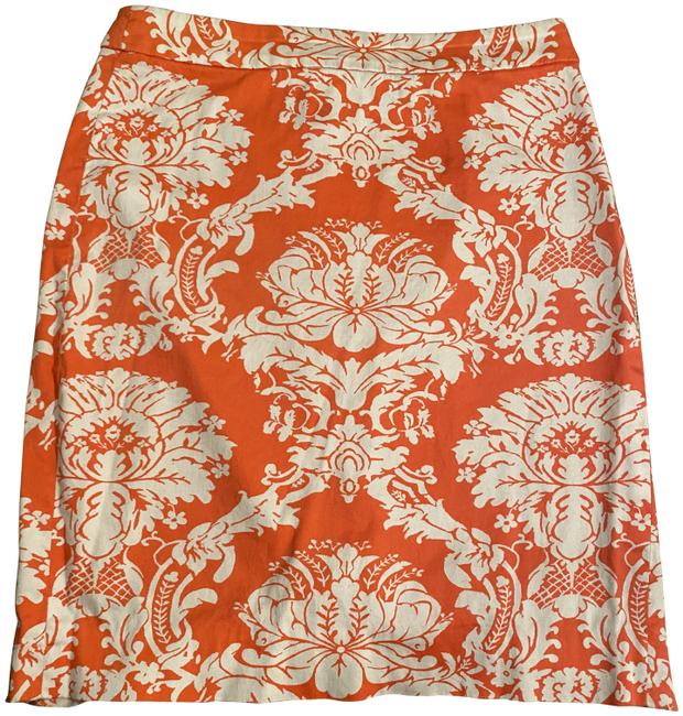Item - Coral Pink White Pencil Skirt Size 0 (XS, 25)