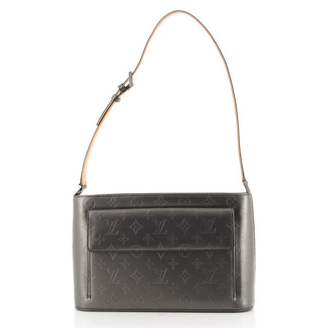 Item - Allston Mat Handbag Monogram Vernis Silver Leather Shoulder Bag