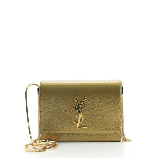 Item - Monogram Kate Box Grainy Small Gold Leather Cross Body Bag