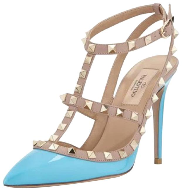 Item - Blue Tiffany Patent Rockstud Stud Pumps Size EU 38 (Approx. US 8) Regular (M, B)
