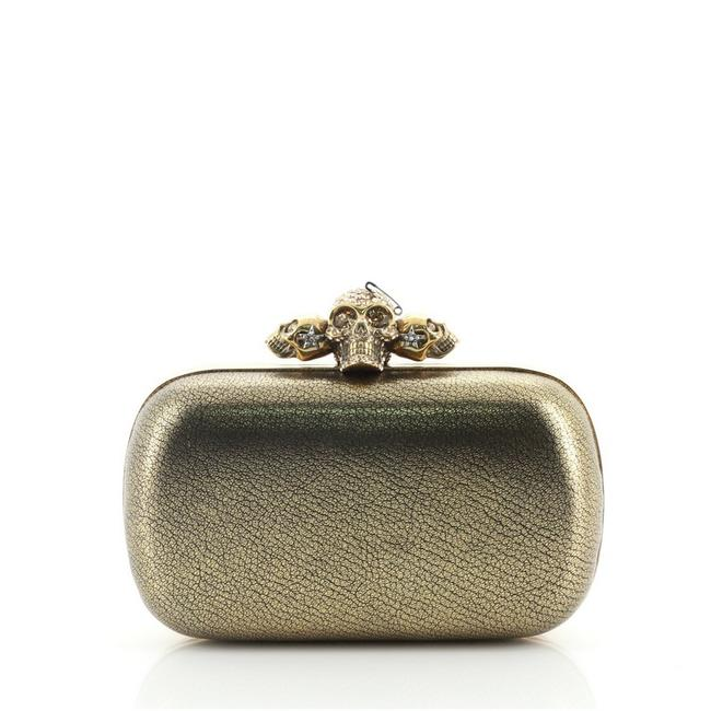 Item - Skull Small Gold Leather Clutch