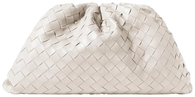Item - Pouch Large Gathered Intrecciato Leather White Clutch