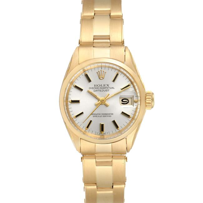 Item - Silver President Datejust 18k Yellow Gold Ladies 6517 Watch