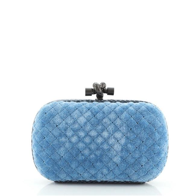 Item - Knot Intrecciato Printed with Small Blue Python Shearling Clutch