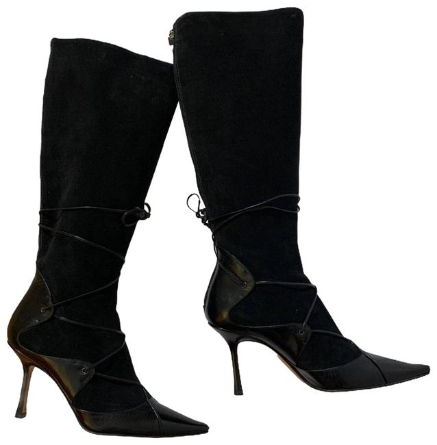 Item - Black Suede Leather Knee High Boots/Booties Size EU 40 (Approx. US 10) Regular (M, B)