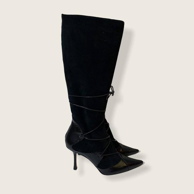 Jimmy Choo Black Suede Leather Knee High Boots/Booties Size EU 40 (Approx. US 10) Regular (M, B) Jimmy Choo Black Suede Leather Knee High Boots/Booties Size EU 40 (Approx. US 10) Regular (M, B) Image 2