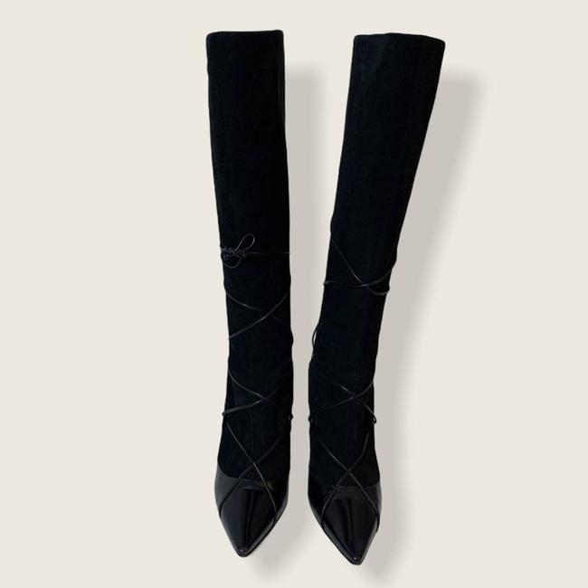 Jimmy Choo Black Suede Leather Knee High Boots/Booties Size EU 40 (Approx. US 10) Regular (M, B) Jimmy Choo Black Suede Leather Knee High Boots/Booties Size EU 40 (Approx. US 10) Regular (M, B) Image 3