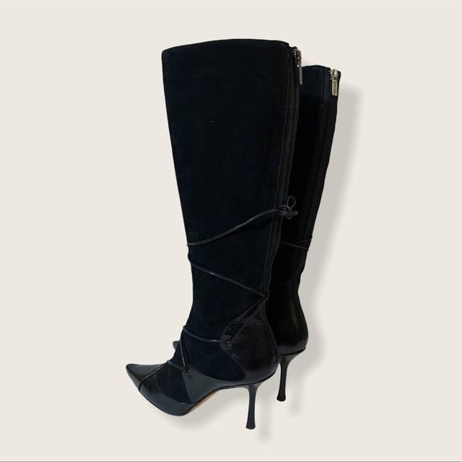 Jimmy Choo Black Suede Leather Knee High Boots/Booties Size EU 40 (Approx. US 10) Regular (M, B) Jimmy Choo Black Suede Leather Knee High Boots/Booties Size EU 40 (Approx. US 10) Regular (M, B) Image 4
