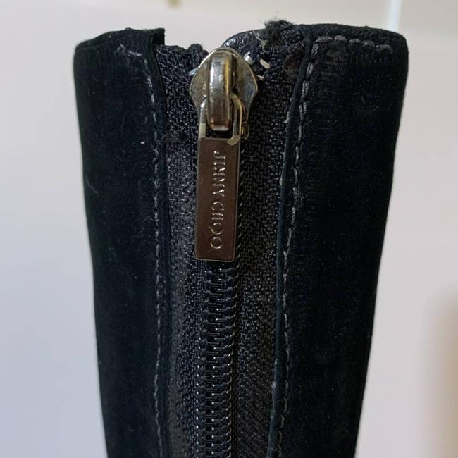 Jimmy Choo Black Suede Leather Knee High Boots/Booties Size EU 40 (Approx. US 10) Regular (M, B) Jimmy Choo Black Suede Leather Knee High Boots/Booties Size EU 40 (Approx. US 10) Regular (M, B) Image 6
