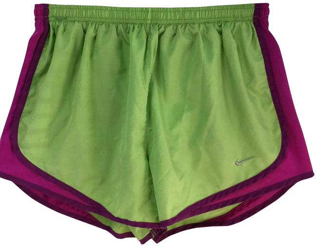 Item - Green & Purple Dry Fit Workout Shorts Size 12 (L, 32, 33)