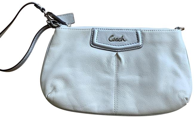 Item - Cream/Off White Cream with Silver Leather Clutch