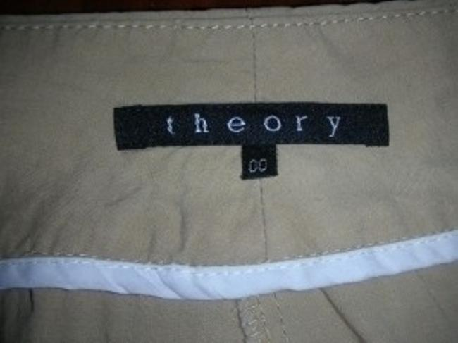 Theory Wide Leg Pants Tan