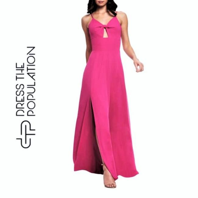 Item - Pink Twist New Cambria Bodice Gown Long Cocktail Dress Size 6 (S)