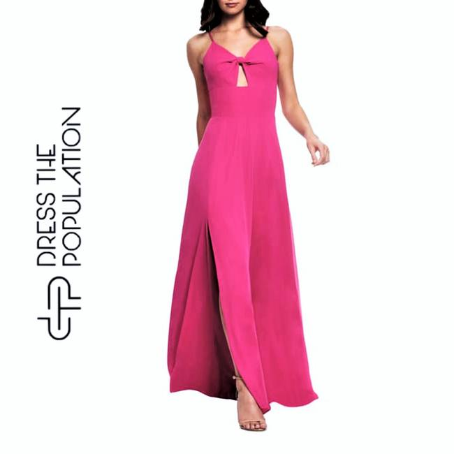 Item - Pink Twist New Cambria Bodice Gown Long Cocktail Dress Size 8 (M)
